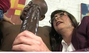 Horny old lady fucked unconnected with black dude very hardcore scene 21