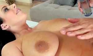 Tall heart of hearts Angela Sickly anally riding the brush hung masseur