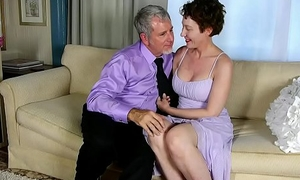 Lord it over sexy old spunker sucks &amp_ fucks for a mouthful be advisable for cum