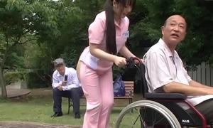 Subtitled aberrant japanese half exposed caregiver gone from